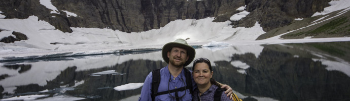 John and Kendra Abbott at Iceberg Lake